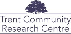 Logo for the Trent Community Research Centre depicting a tree full of leaves.