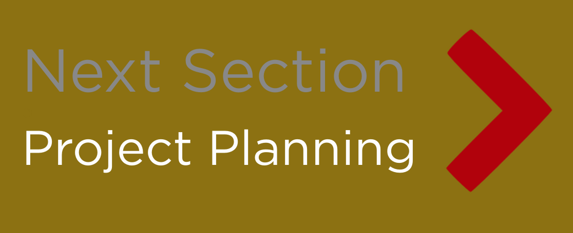Button - 'Next Section: Project Planning'