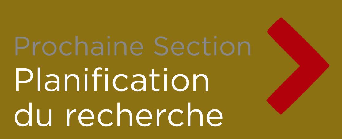 """Button - """"Planification du recherche"""""""