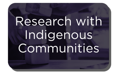 "Button - ""Research with Indigenous Communities"""