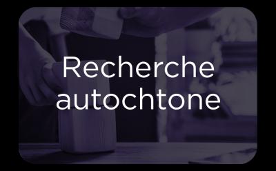 "Button - ""Recherche Autochtone"""