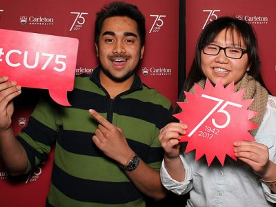 Photo for the news post: Carleton Community Invited to 75th Anniversary Launch