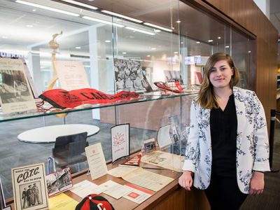 Photo for the news post: Carleton Library Exhibits Showcase 75 Years of Growth