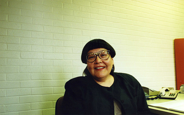 Madeliene Dion Stout, first director of the Carleton Aboriginal Education and Research Centre, May 1993. Development and Alumni Services fonds.