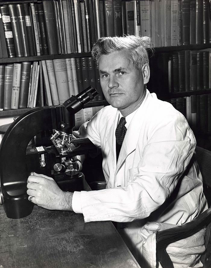 Photo of H.H.J. Nesbitt, associate professor of Biology, Carleton College, 1958. Department of University Communications fonds.