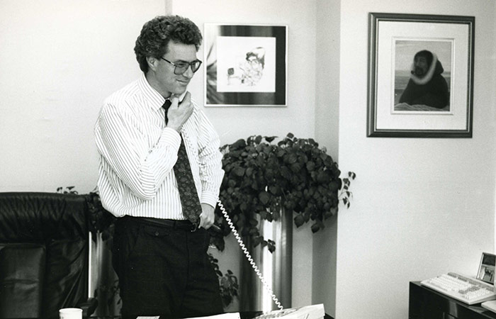 Eric Sprott, 1990. Development and Alumni Services fonds.
