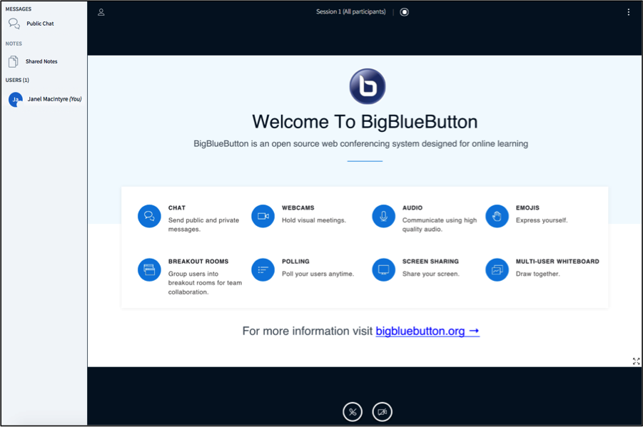 BigBlueButton (Web Conferencing) - Support for Instructors