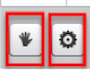 A screen shot close up of the two buttons found in the Participation toolbar.
