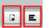 A screen shot close up of the two buttons found in the Presentation toolbar located at the bottom of the Presentation pod window.