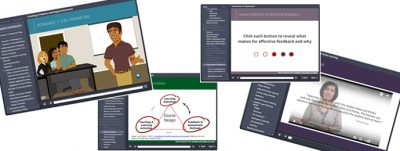 Collage of screenshots of the College Educator Development Program