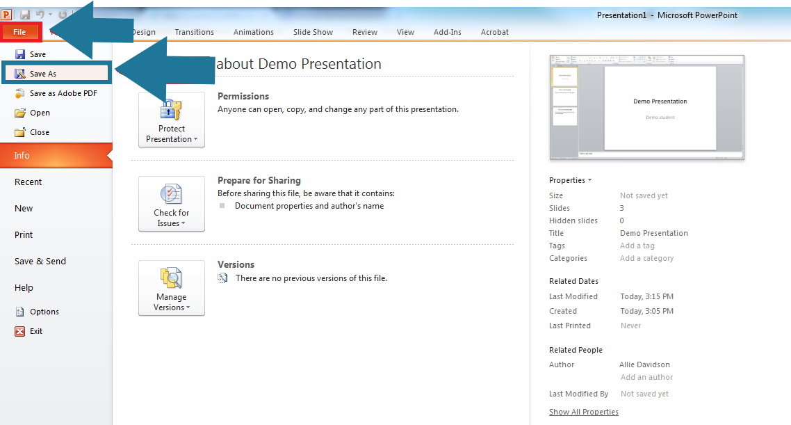 save powerpoint as pdf