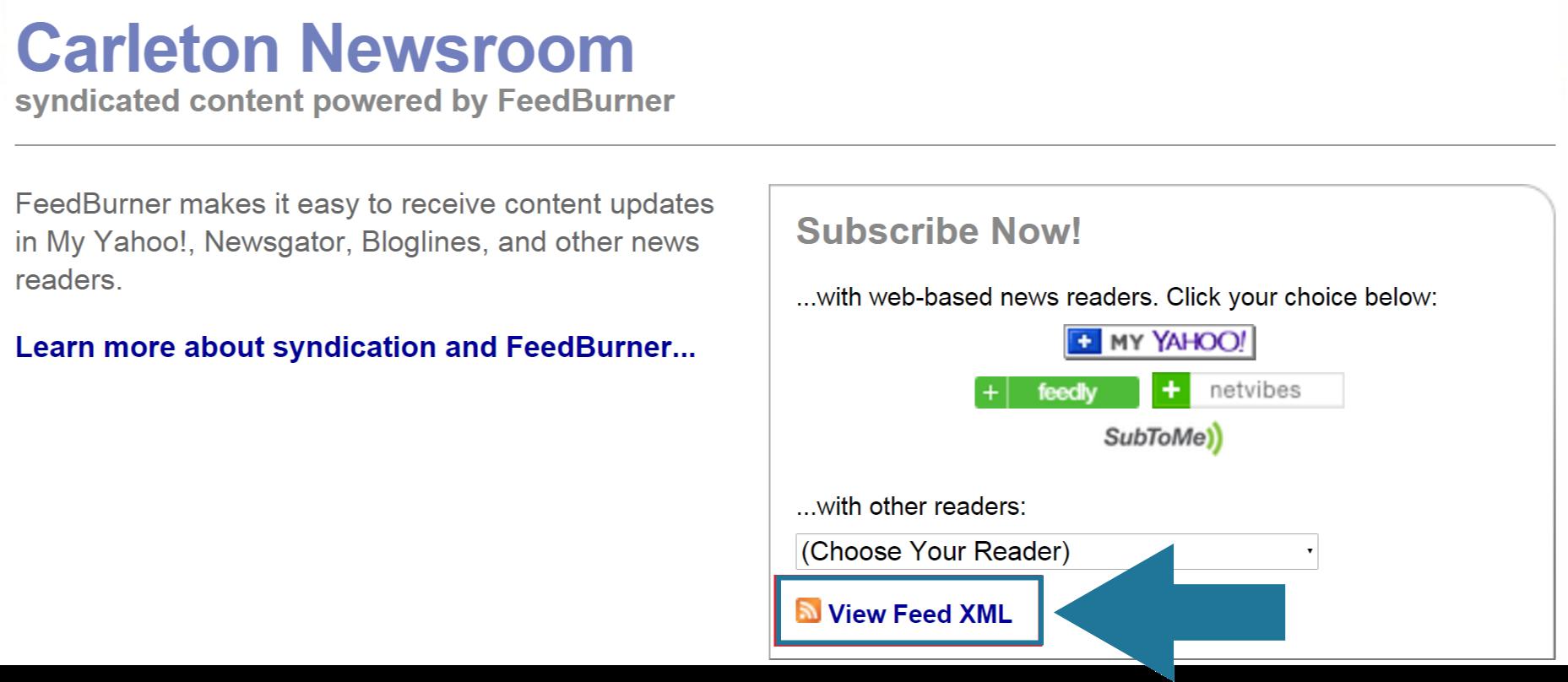 view xml feed