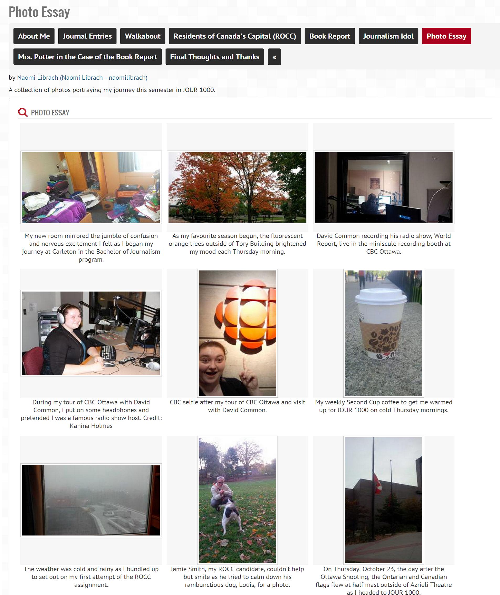 student eportfolio samples cuportfolio support naomi librach screenshot thumbnail