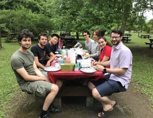 Everyone enjoying lunch together at the 1st Annual CyberSEA Research Lab Summer BBQ