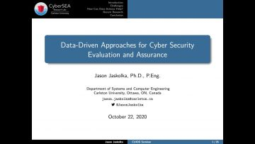 Thumbnail for: Data-Driven Approaches for Cyber Security Evaluation and Assurance