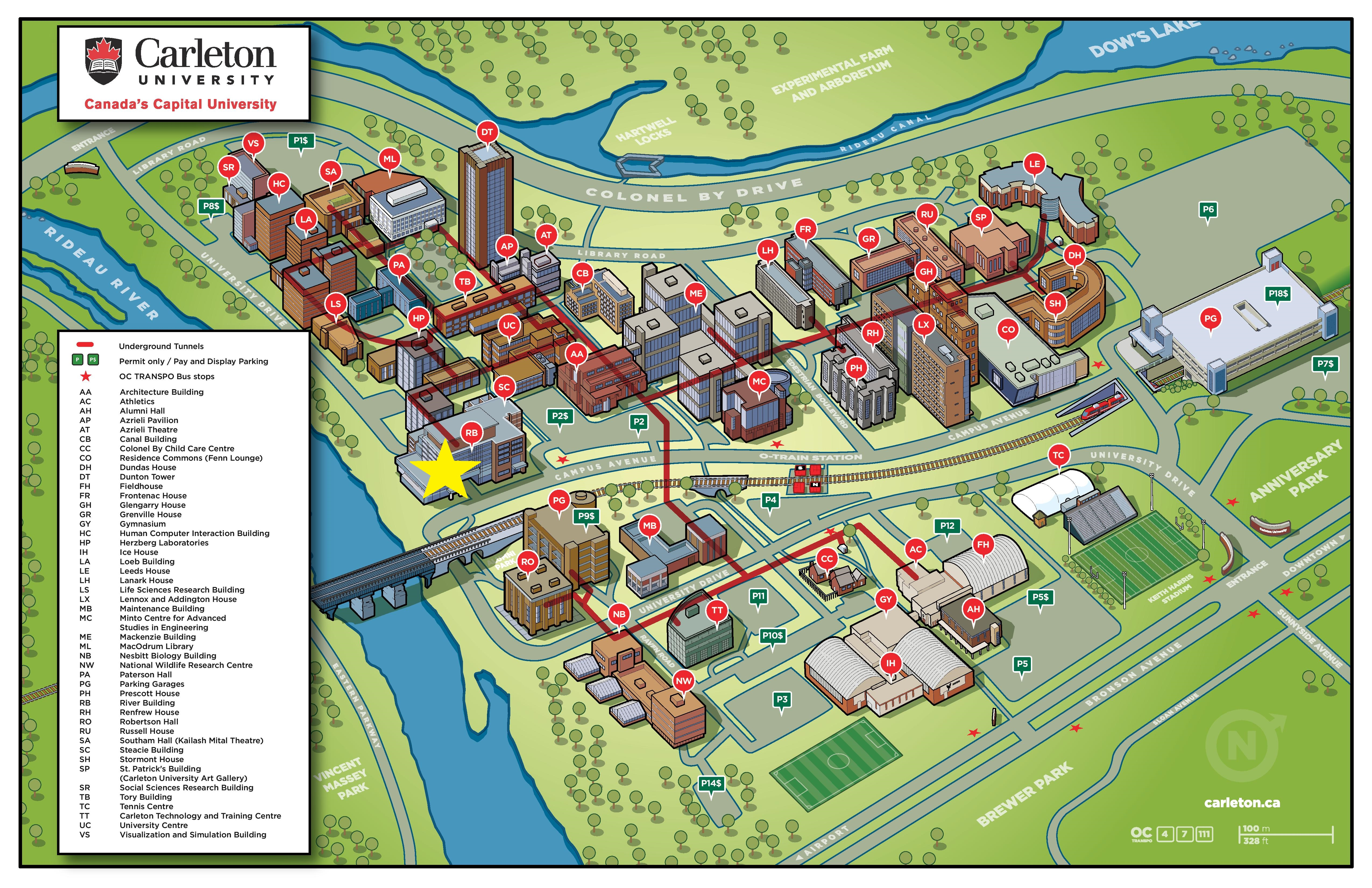 Carleton University Map Campus map and info   Data Power 2017 Carleton University Map