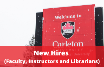 Photo of welcome sign on Carleton campus