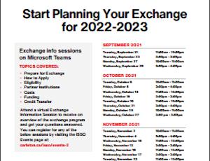 View Quicklink: 2022-2023 Student Exchange Information