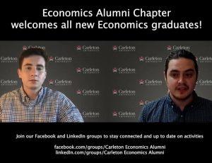 View Quicklink: Economics Alumni Chapter welcomes Economics Class of 2021!