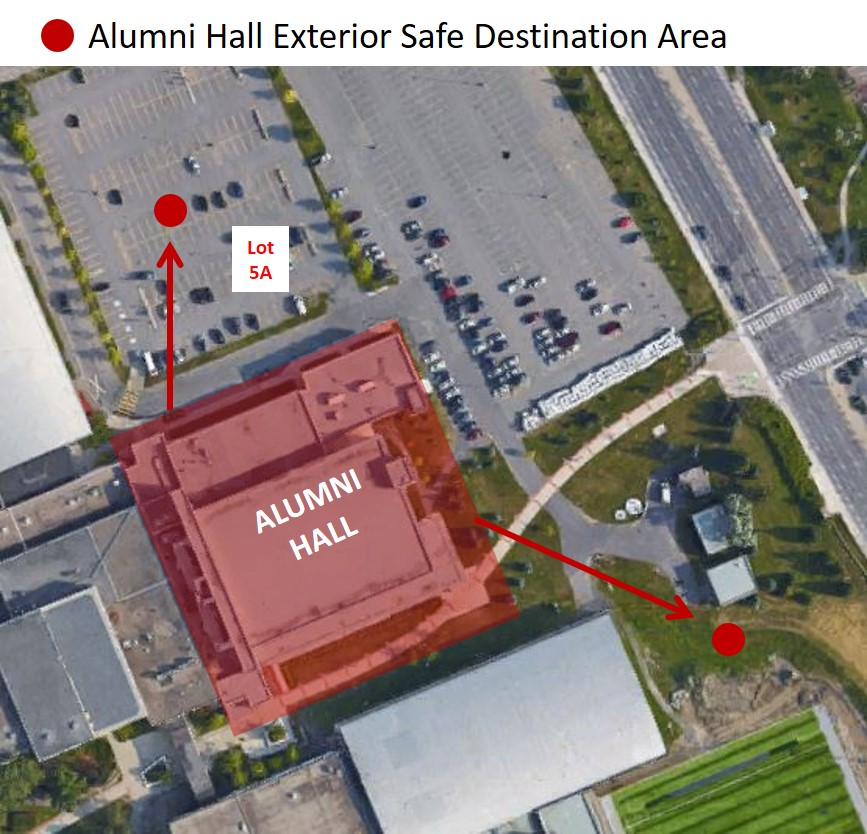 Outside: Parking lot #5A or grass area North of Ice House