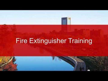 Thumbnail for: Carleton University – Fire Extinguisher Training