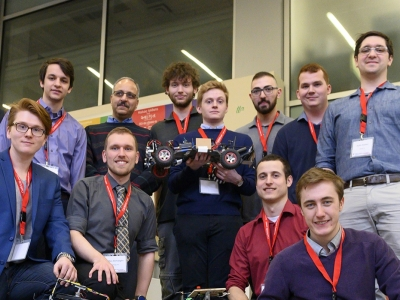 Photo for the news post: Undergrad Autonomous Vehicle Project Wins W.E. Cowie Award
