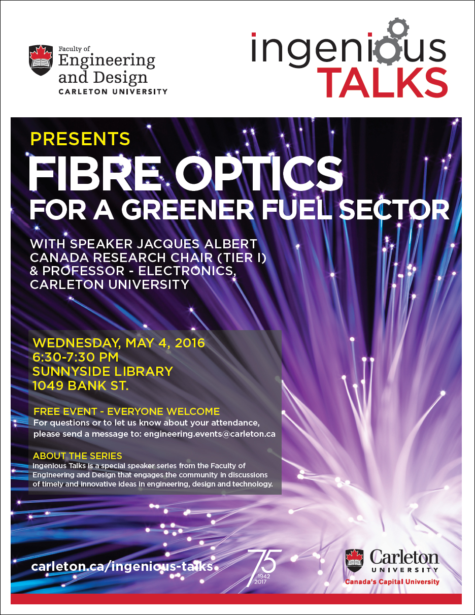 Ingenious Talks - Fibre Optics for a Greener Fuel Sector Full Poster - May 4
