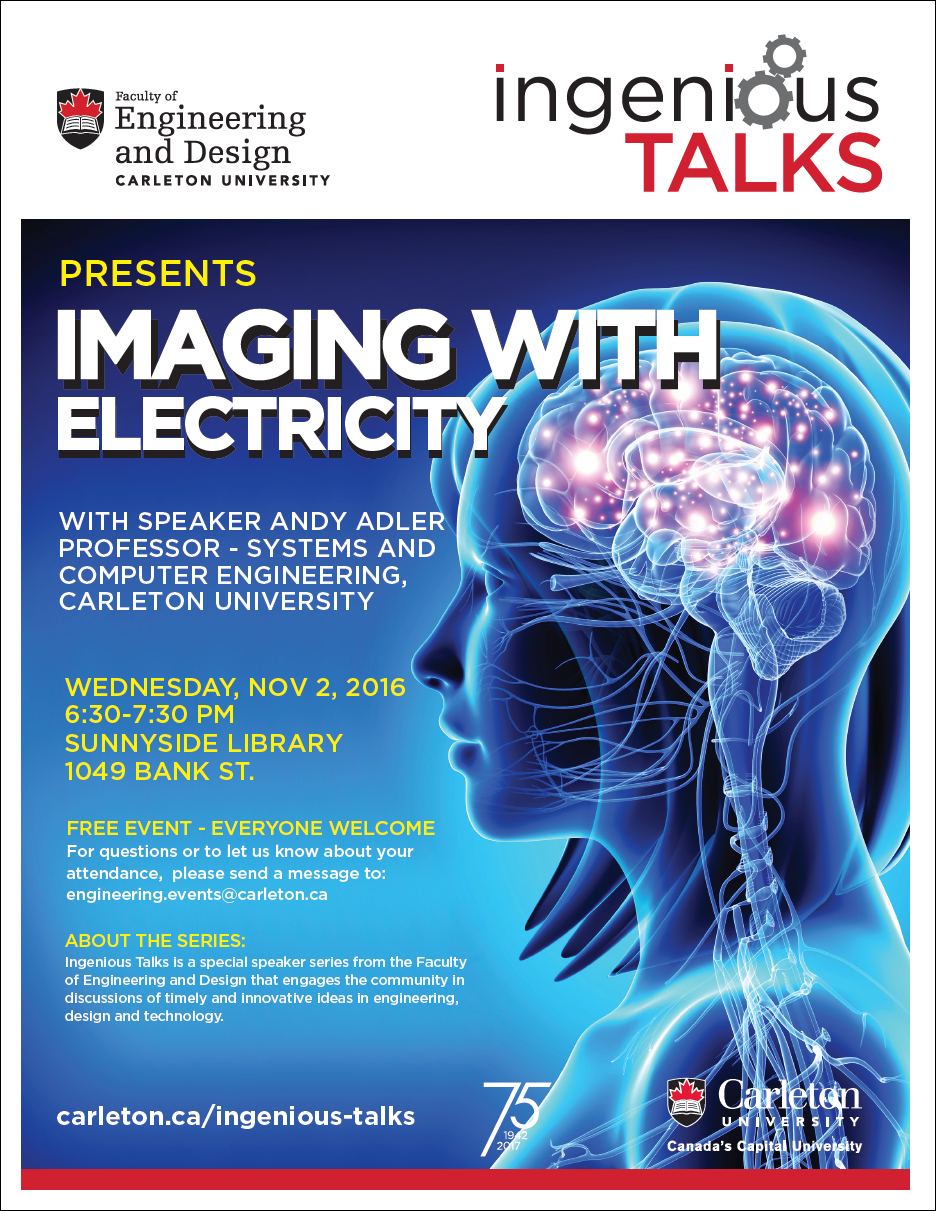 Ingenious Talks - Imaging with Electricity Full Poster - November 2