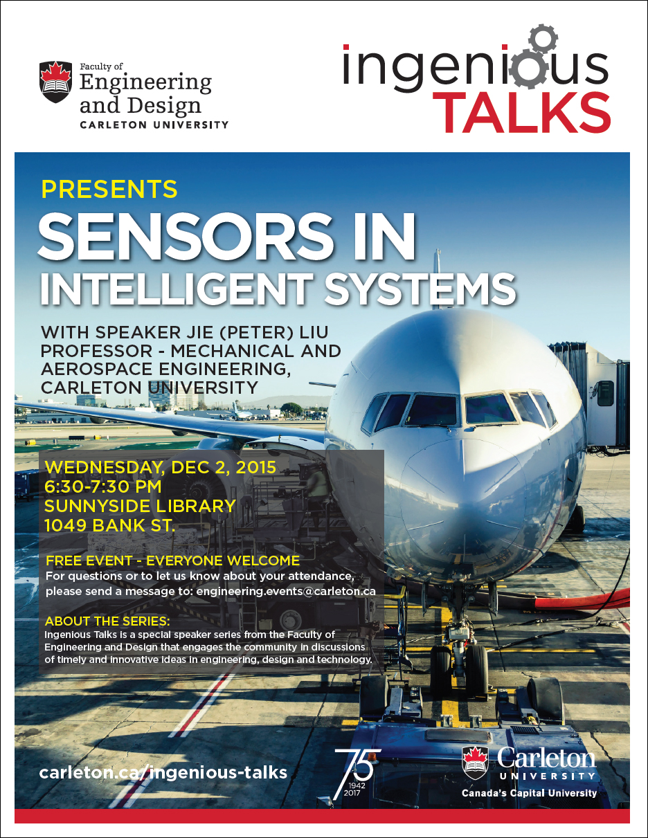 Ingenious Talks - Sensors in Intelligent Systems Full Poster - November 4