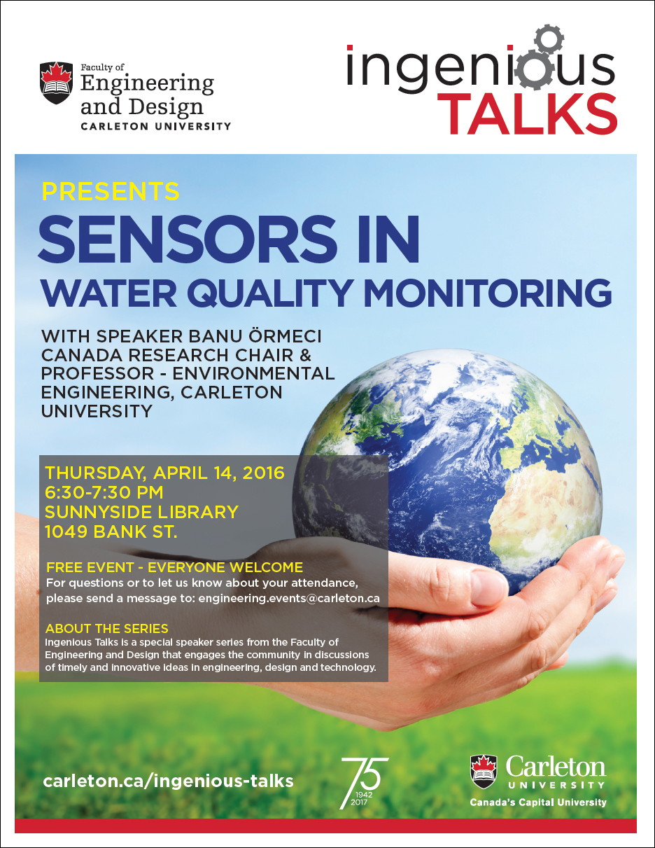 Ingenious Talks - Sensors in Water Quality Monitoring Full Poster - Apr 14