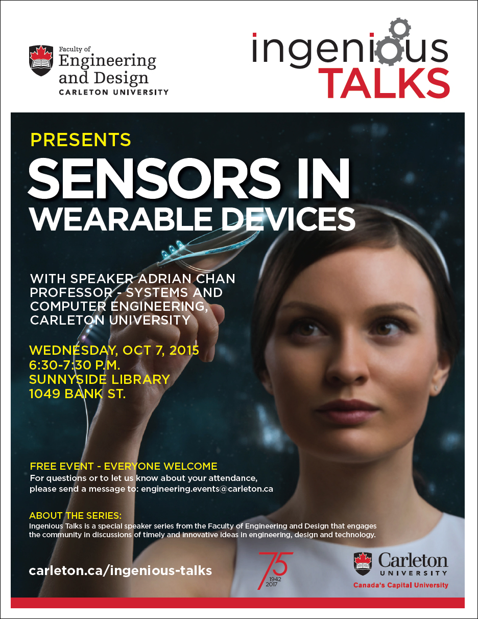 Ingenious Talks - Sensors in Wearable Devices Full Poster - October 7