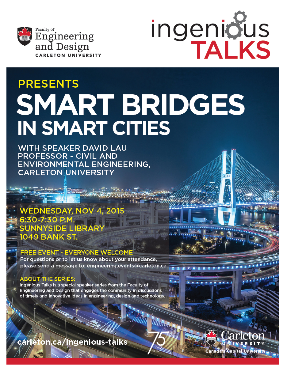 Ingenious Talks - Smart Bridges in Smart Cities Full Poster - November 4