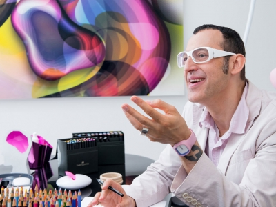 Photo for the news post: Industrial Design Grad Karim Rashid Opens Exhibition at Ottawa Art Gallery
