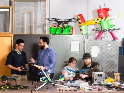 Photo for the news post: Hands-on Experience with UAVs Offer Graduate Students Internships with Industry Partners