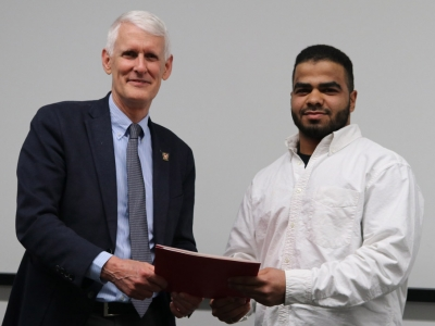 Photo for the news post: Spring Convocation – Computer Systems Engineering Student's Software Goes Global