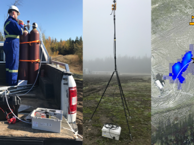 Photo for the news post: New EERL Publication Details Blinded Study of Novel Airborne Methane Source Detection Technology