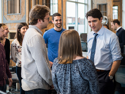 Photo for the news post: Global Cybersecurity Resource Showcased for Prime Minister Trudeau