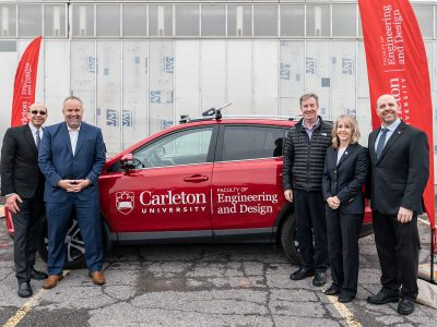 Photo for the news post: Revolution on the Road – Carleton Helps Launch Unique Test Track