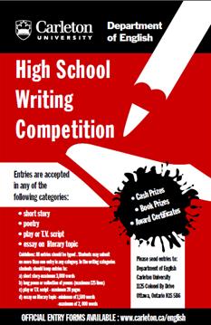 High school writing awards