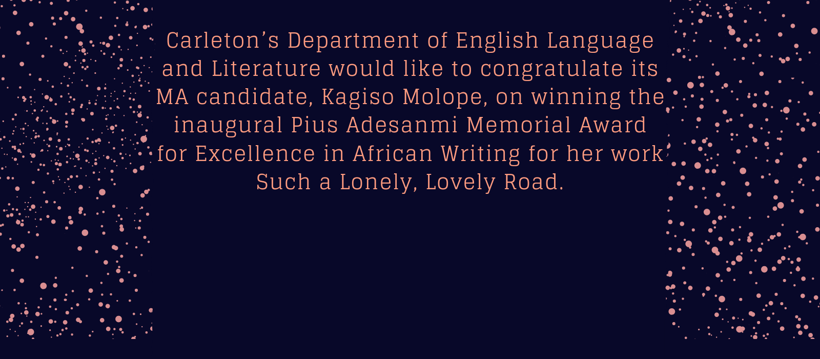 Banner image for Department of English Language and Literature
