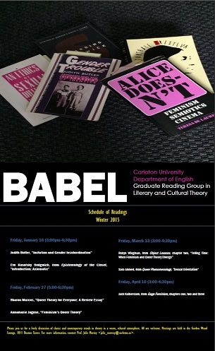 BABEL Winter 2015 (click poster to enlarge)