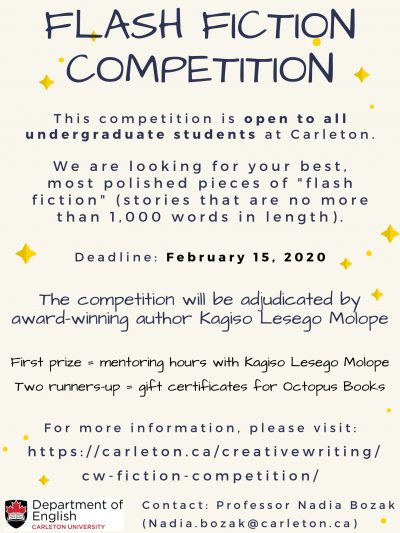 Flash Fiction Competition Poster
