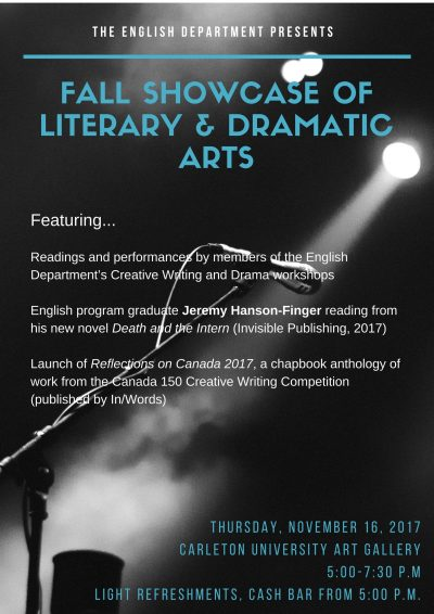 Fall Showcase of Literary & Dramatic Arts - Events - Department of