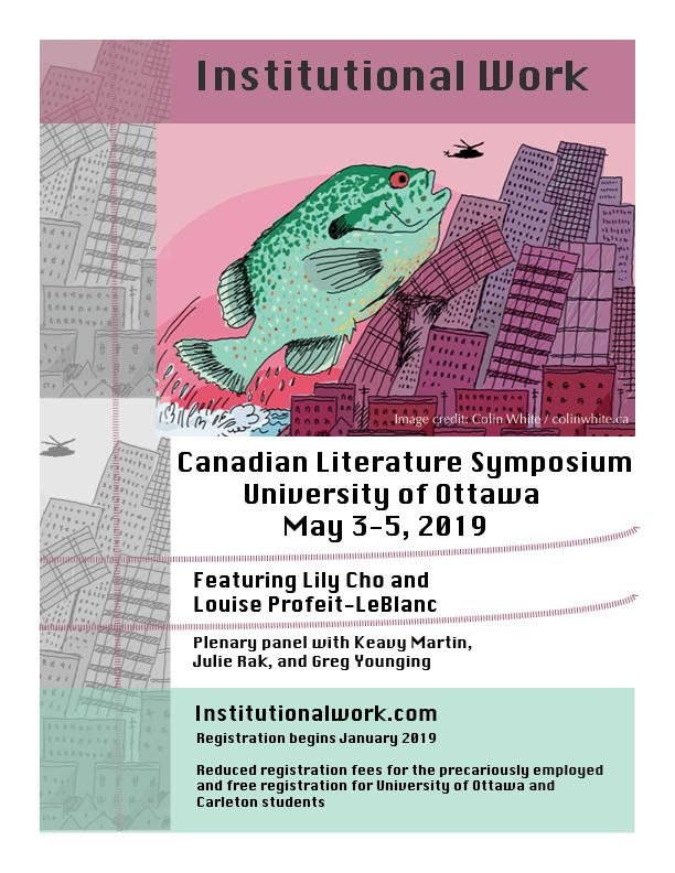 Canadian Literature Symposium 2019 - Department of English Language