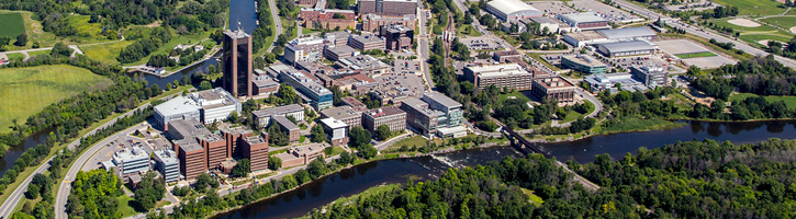 Aeriel view of Carleton University in Ottawa