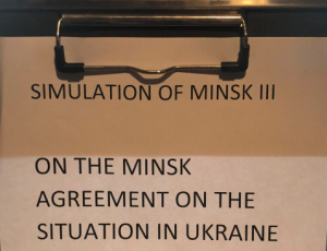View Quicklink: Graduate Students Conduct Minsk Simulation
