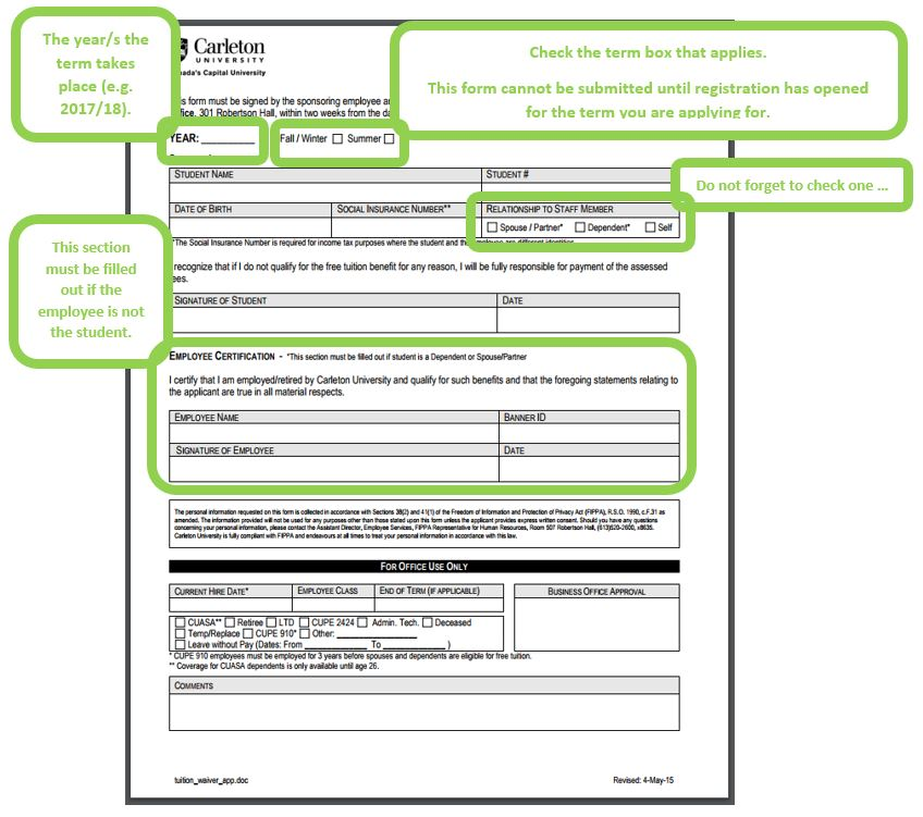 Free Application Form | Filling Out The Free Tuition Application Form 2 Of 3 Financial