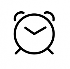 This is an icon of a clock.