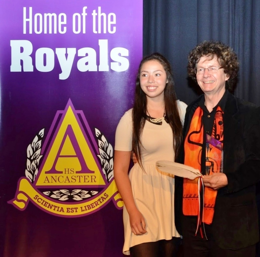 In 2016 Dr. Ryan was inducted into Ancaster High School's Hall of Distinction by student Semiah Smith who, in 2008, travelled to the New Sun Conference with her mother, renowned dancer/choreographer Santee Smith, a presenter and performer at the Conference.