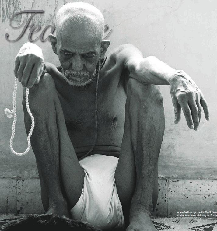 An older man performing santhara